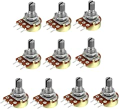 uxcell WH148 50K Ohm Variable Resistors Single Turn Rotary Carbon Film Taper Potentiometer 10pcs