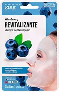 Kiss NY Professional Máscara Facial de Bambu - Blueberry, Kiss New York Professional