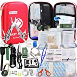 Monoki First Aid Kit Survival Kit, 241Pcs Upgraded Outdoor Emergency Survival Kit Gear - Medical Supplies...
