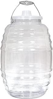 Made in Mexico, Vitrolero Aguas Frescas Tapadera Plastic Water Container with Lid, 5 Gallon