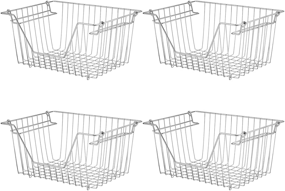 blitzlabs Stackable Wire Organizing Basket Cheap mail order shopping Storage Direct stock discount Cabin Baskets