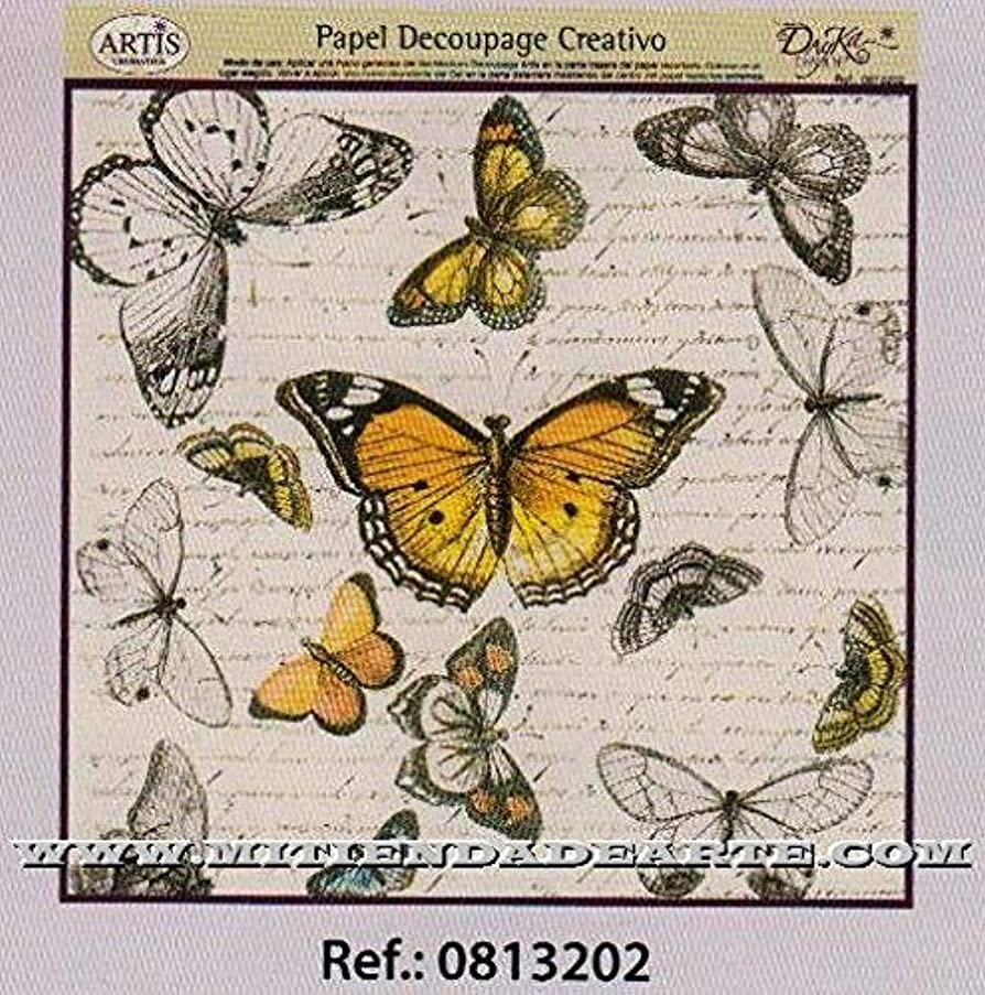 Dayka Trade Decoupage Paper, Butterfly Design, Multi-Colour, One Size