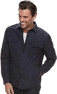 Men's Slim-Fit Wool-Blend Quilted Shirt Jacket