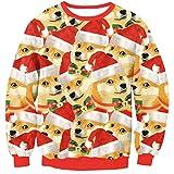 Belsen Women's Christmas Sport Pullovers Couples Sweater Sweatshirts T-Shirt (XL, Xmas Dog)