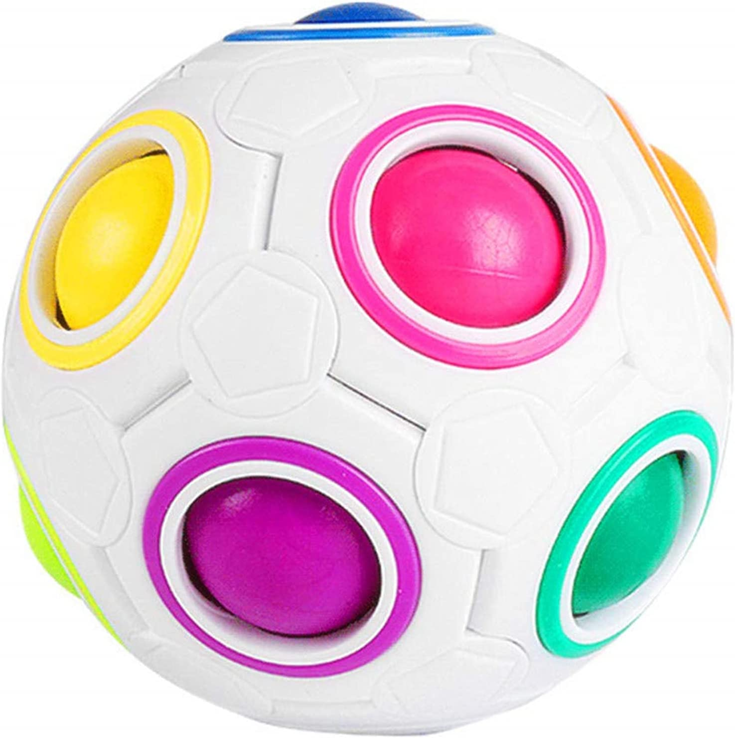 CuberSpeed Moyu Free Shipping New Rainbow Ball At the price of surprise Magic 12 Rain Holes Cube
