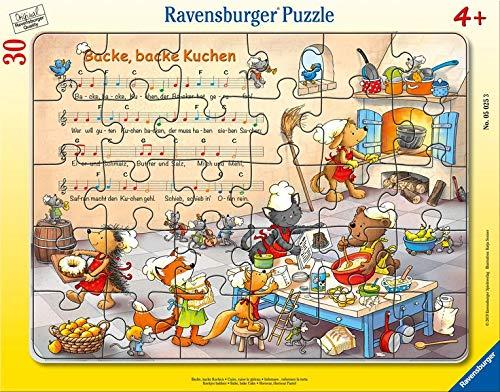 Ravensburger Kinderpuzzle 05025 - Backe, backe Kuchen - Rahmenpuzzle