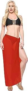 Women One Size Summer Beach Wrap Cover Up Maxi Skirt Sarong Full Long B