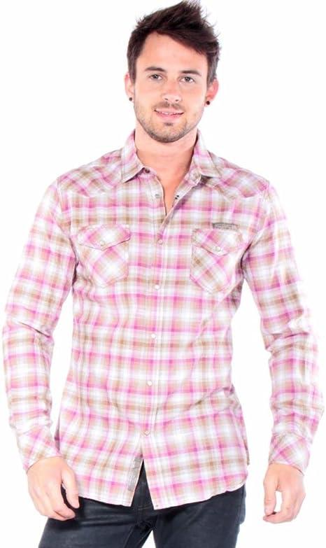 Diesel – Camisa Casual – Hombre – Camisa rosa con cuadros ...