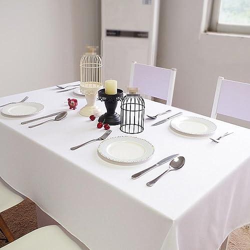 hasta 60% de descuento ZHUOBU Manteles blancos, manteles rectangulares del Restaurante del del del Hotel, manteles Cuadrados, manteles Color Puro del paño  ahorra hasta un 80%
