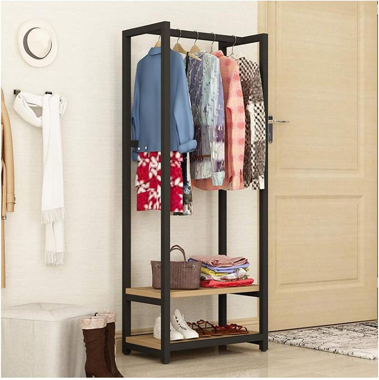 Coat Rack Coat Rack Household Shelf Landing Multi-Function Hanger Bedroom Single Pole Hanger Living Room Save Space (color   A, Size   70  29  150cm)
