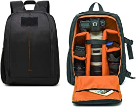 Outdoor Professional Camera Backpack, Waterproof And Shockproof SLR Camera Bag Suitable For Tripod Camera Lenses And 15.6-inch Laptop -28 19 44CM Orange