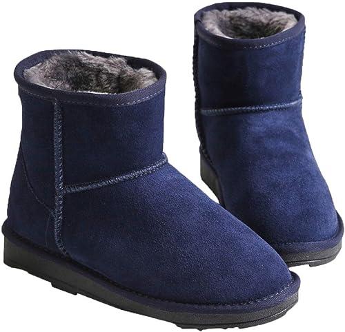 ZHRUI Stiefel de otoño e Invierno para damen, más Stiefel de Nieve de Cachemira Artificial (Farbe   6, tamaño   35EU)
