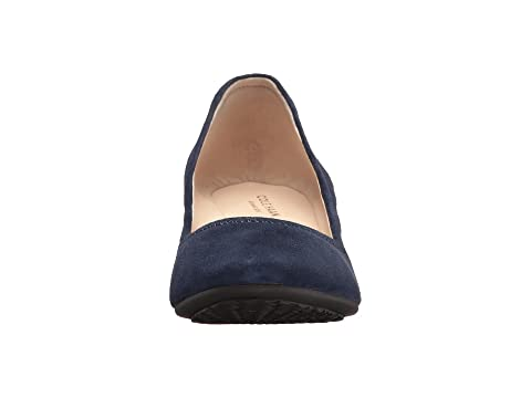 Haan Sadie 40mm Blue Marine Suede Cole Wedge 1ZwdxZ0