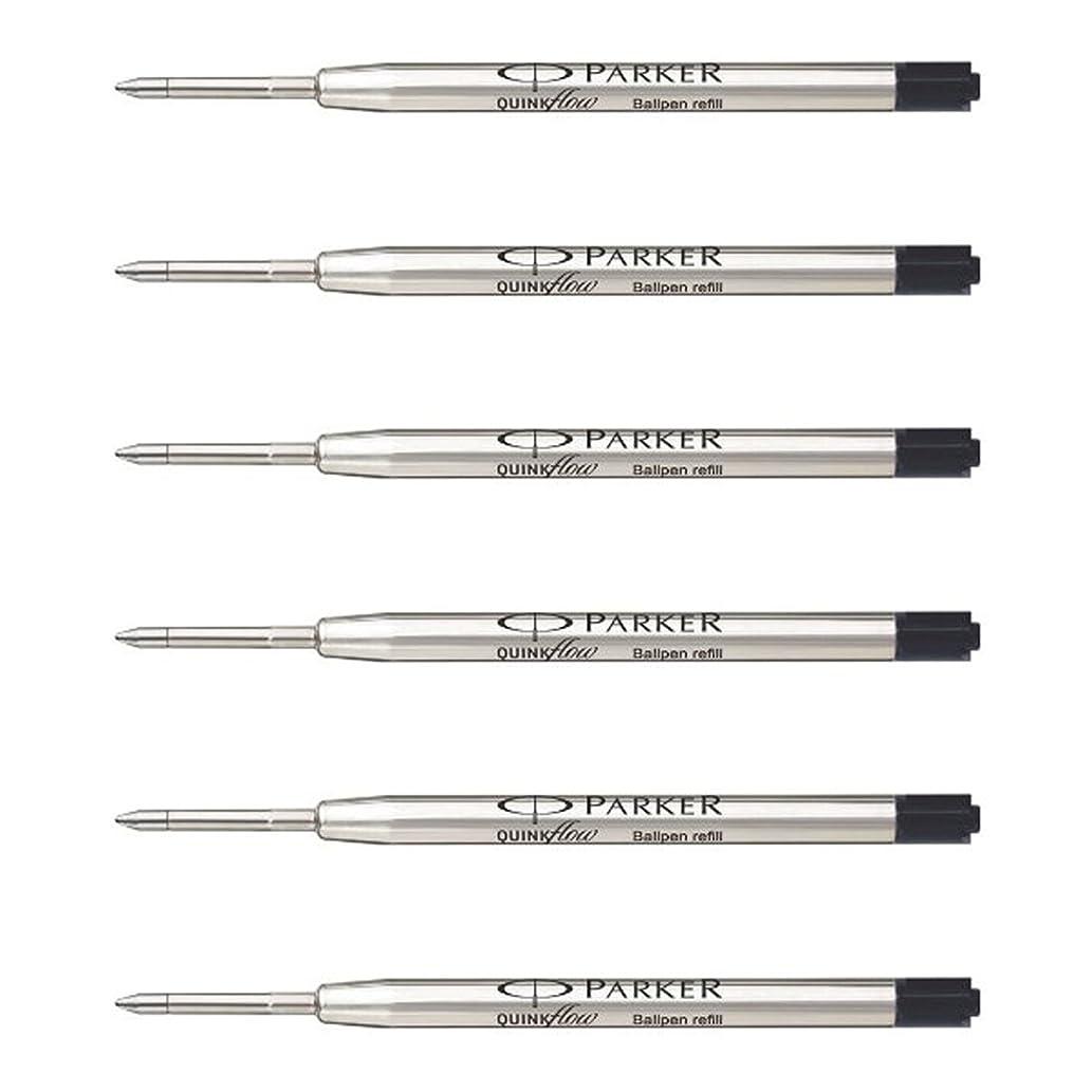 Parker QuinkFlow Ink Refill for Ballpoint Pens, Medium Point, Black Pack of 6 Refills (1782469)