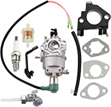 Leopop Carburetor for Generac GP5500 GP6500E GP6500 GP5000 GP6000 GP6000E GP7500E GP8000E Generator 5KW 5.5KW 6.5KW 389cc 420cc Engine Parts w Fuel Shut Off Valve Tune Up Kit