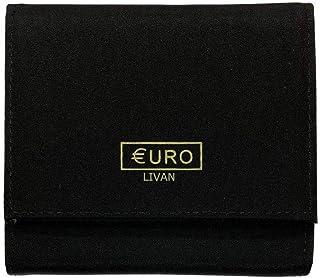 8 compartiments s/épar/és LOLUNA/® Grand Porte monnaie trieur euro compartiment billets Qualit/é sup/érieur id/ée cadeau femme ou homme Noir