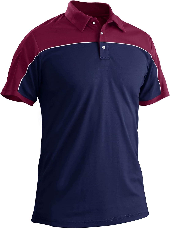 MAGCOMSEN Men's Omaha Mall Outdoor Golf Polo Short Button Nippon regular agency 3 Dr Sleeve Quick