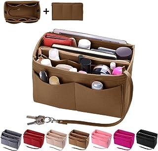 Purse Organizer Insert, Felt Bag organizer with zipper, Handbag & Tote Shaper, Fit LV Speedy, Neverfull, Longchamp, Tote