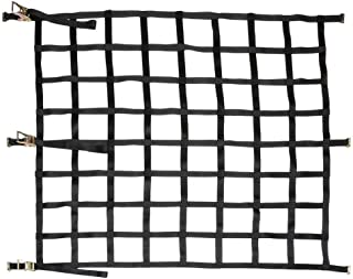 US Cargo Control Heavy Duty Cargo Net with Ratchets and E-Track Fittings - Net Size 82 Inches by 82 Inches with 8 Inch by 8 Inch Holes - for Use in Semi Trailers and Enclosed Van Trailers