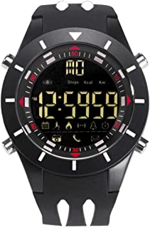 Men's Sports Analog Quartz Watch,Dual Display Waterproof Digital Watches with LED Backlight- Black and White