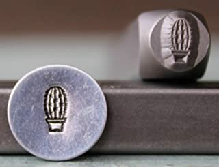 Brand New 6mm Southwest Cactus Plant Metal Punch Design Stamp - Supply Guy - CH-284