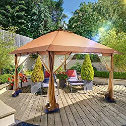 OUTDOOR LIVING SUNTIME,Pop Up Gazebo Canopy with Mosquito Netting