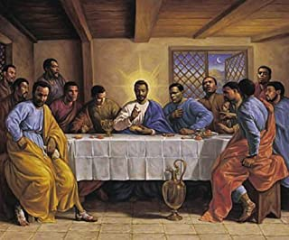 HSE Laminated Last Supper by Sarah Jenkins African American Religious Art Print Poster 24X36