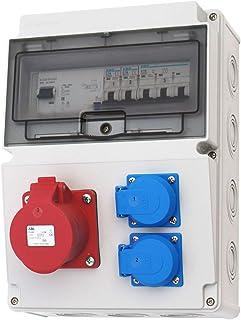 Wandverteiler CEE 16A  230V  FI Stromverteiler Baustromverteiler Feuchtraumverteiler 2-6