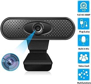 s61Ylu Webcam HD 1080p Camera USB Web Cam MIC Clip-on for Computer Laptop Web Camera 360 Degree USB Camera Black 1080P