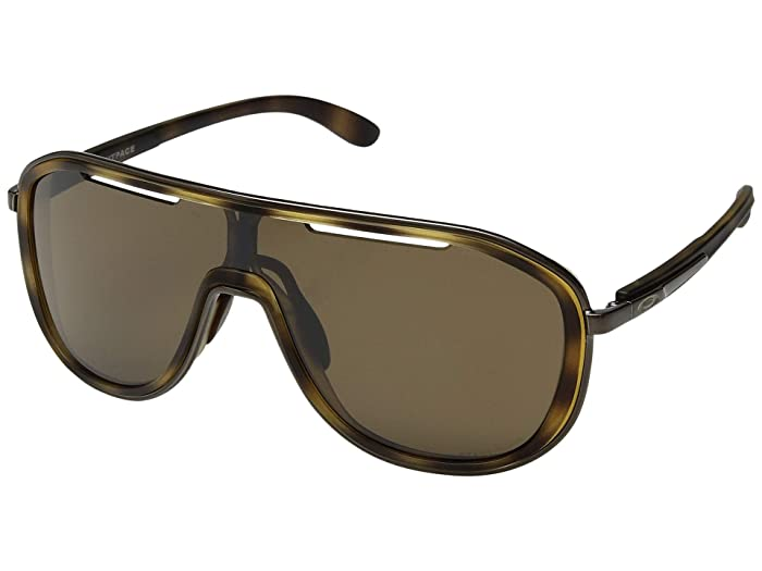 Oakley Outpace (Matte Brown Tortoise/Polished Chocolate w/ Prizm Tungsten) Sport Sunglasses