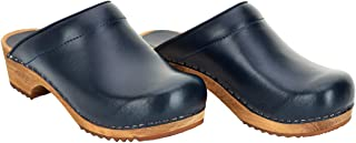 Sanita Lars Mule Clog | Original Handmade Wooden Leather Clog for Men