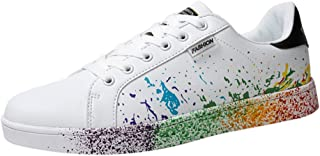 Todaies Women`s and Men`s Fashion Couple Colorful White Sport Board Sneakers