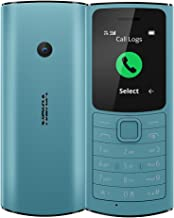 Nokia 110 4G with Volte HD Calls, Up to 32GB External Memory, FM Radio (Wired & Wireless Dual Mode), Games, Torch   Aqua (...