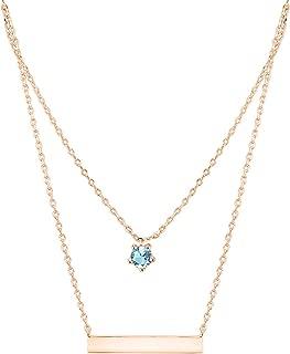 Best rose gold aquamarine necklace Reviews