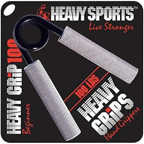 Heavy Grips Hand Grippers - 100lb – Effectively Train Your Hand Grip Strength w/Targeted Forearm, Wrist & Hand Exercises – Advanced Hand Grip Strengtheners