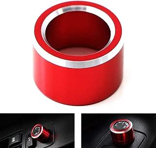 iJDMTOY Red Anodized Aluminum Side Mirror Adjustment Button Knob Cover For Subaru WRX, STI, Impreza, Forester, XV Crosstrek
