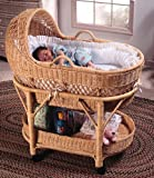 IRA Furniture Deluxe Baby Wicker Bassinet