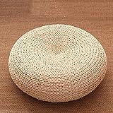 GGYDD Japaner Stroh Sitzkissen,Hand Gefertigt Futon Tatamimatte Gepolsterte Meditation Pad Eco-freundlich Atmungsaktiv Sitzpolster-e Diameter:40cm(16inch)