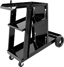 ECD Germany Mobiele laswagen met 3 schappen, laadvermogen tot 45 kg, lassen mobiele lasapparatuur lassen trolley werkplaat...