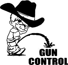 Cowboy Calvin Piss Pee on Socialist Gun Control Vinyl Decal Sticker for Window Car Laptop (5.5