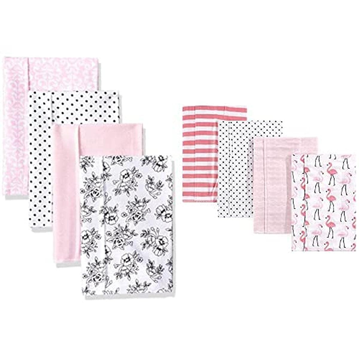 Hudson Baby Girl Regular discount Cotton Flannel Cloth Flaming Toile Burp Max 68% OFF 8-Pack
