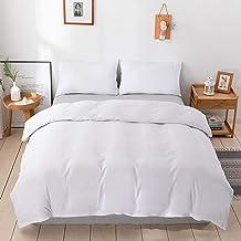 Duvet Cover Set's【White】Duvet Quilt Comforter Cover 1000TC Ultra Soft Microfiber Wrinkle & Stain Resistant Cover Bedding S...