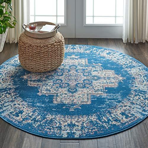 Marca de Amazon - Movian Mesta, alfombra redonda, 160 x 160 cm (diseño geométrico)