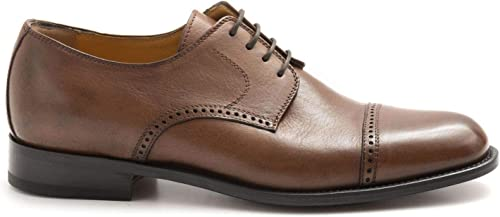 Calpierre - marron Soft Leather Derby chaussures with with Footbed - 1824BUFALIS APE660 RADICA  achats en ligne de sport
