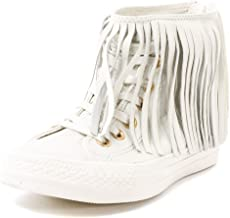 Converse Women's All Star Fringe High-Top Leather Fashion Sneaker