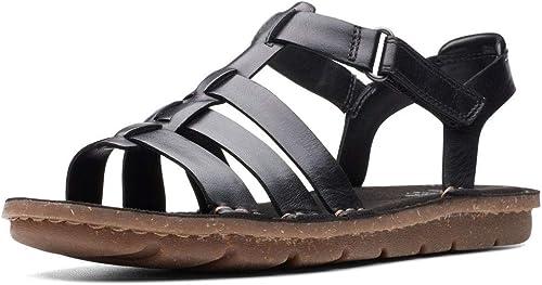 Clarks Blake Jewel Jewel femmes Wide Fit Strappy Sandals 5.5 D (m) UK  39 EU Noir  magasin en ligne