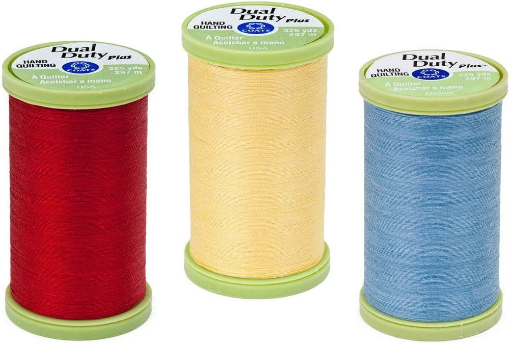 Coats 3-Pack Bundle - Recommended Dual Duty High material Thread Quilting Plus Prim Hand