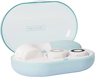 Vanity Planet Glowspin Spa Facial Brush Cleaning System - Gentle Exfoliator, Water-resistant - Suited for Sensitive Skin, Bombshell Blue