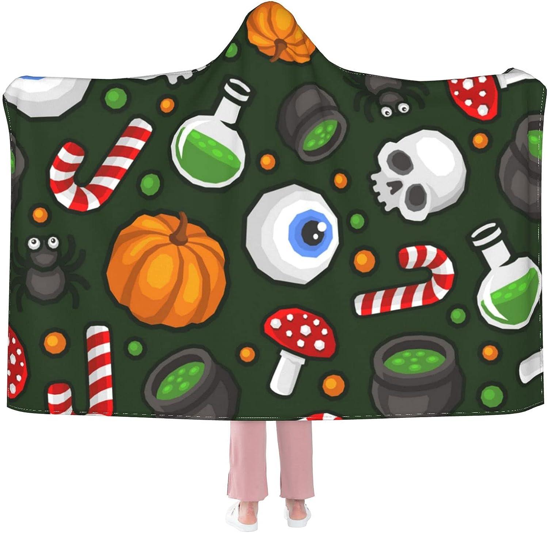 Sordiw Halloween Pumpkin Hooded Blanket Deluxe for Seattle Mall Super S Soft Flannel