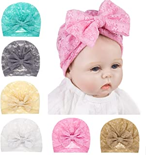 BZCSHOW Baby Headbands Bows Headwraps for Girl, Baby Girl Newborn Toddler Child Hair Accessories, Nylon Turban Knotted Lac...